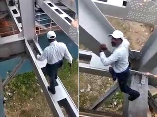 印度列车长不惧鸿沟跨越大桥重启紧急制动列车