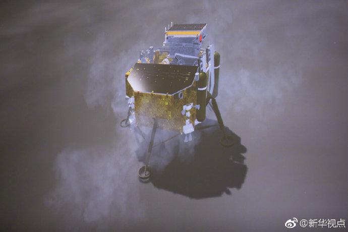 嫦娥四号成功着陆月背!传回世界首张近距拍摄月背影像图
