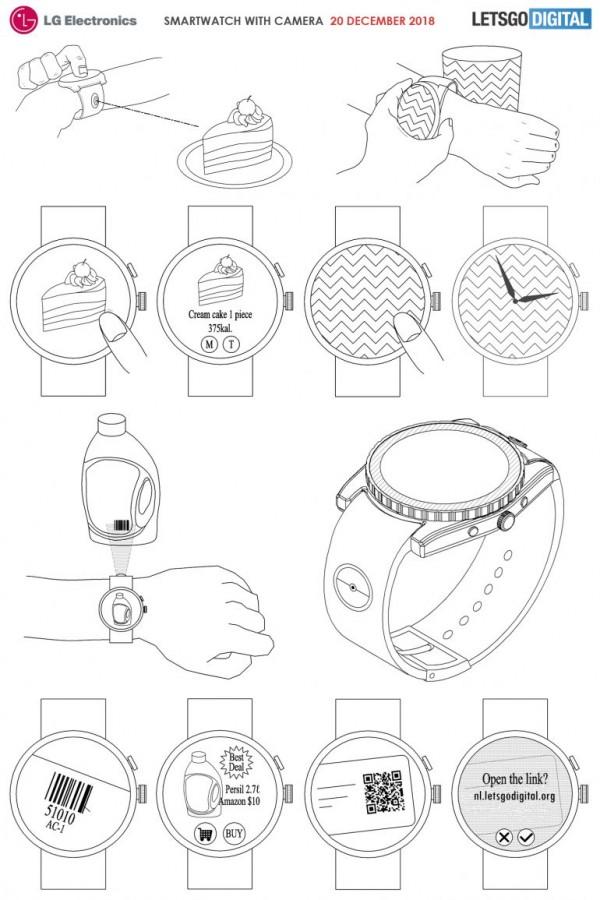 LG智能手表新专利:表带安装摄像头 可查食物热量