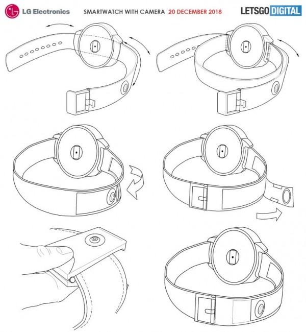 LG智妙手表新专利:表带安装摄像头 可查食品热量