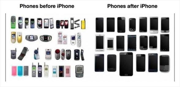 看图说话:iPhone对安卓手机的影响有多大?