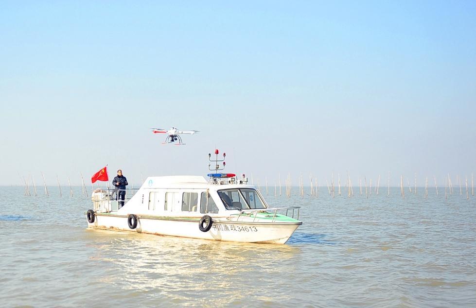 封湖禁渔无人机巡查高宝邵伯湖禁渔期到5月31日截止
