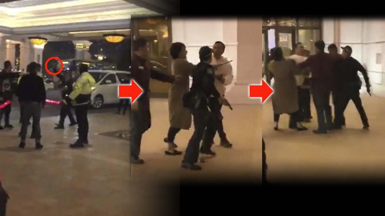 三名内地男子在澳门酒店外吸烟被阻 警员开枪示警