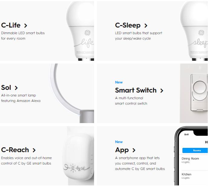 通用电气发布C by GE新品 首次引入彩色智能灯泡