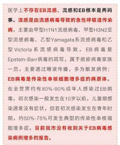 EB流感很严重? 北京疾控中心辟谣:不存在EB流感