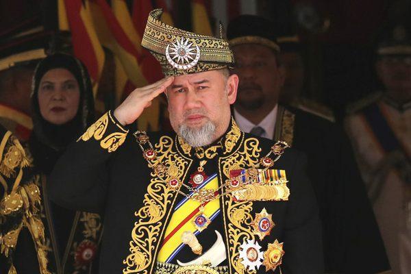 马来西亚国家元首穆罕默德五世宣布辞职