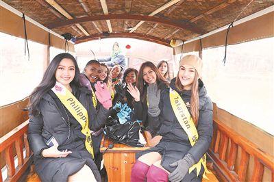 世界旅游小姐泰州姜堰领略湿地风光