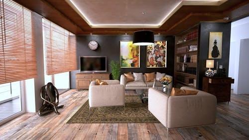 亚马逊的虚拟客厅让你可以自由搭配家具