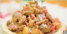 鲜嫩的牛肉粒搭配上杏鲍菇