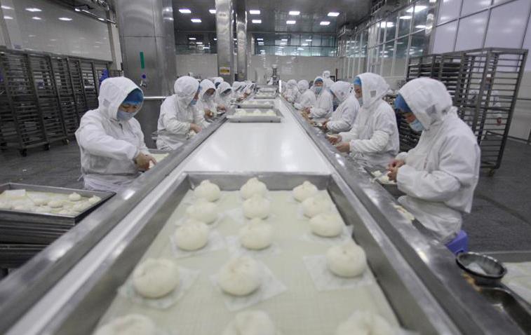 江苏扬州:包子俏销年节市场