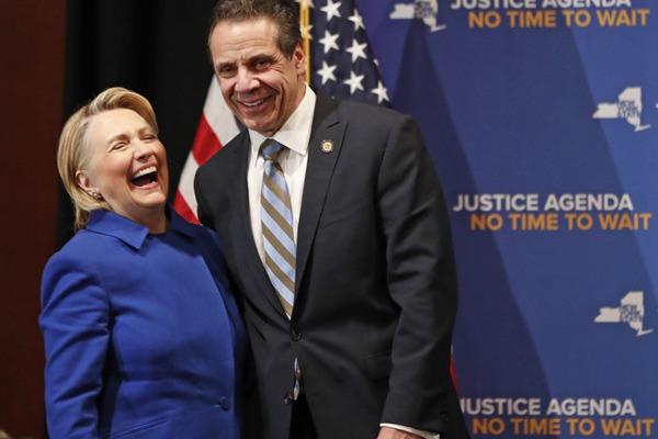 """希拉里现身""""大笑姑婆"""" 呼吁将堕胎权写进纽约州法律"""