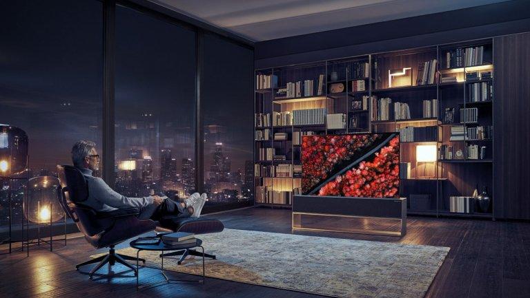 "CES 2019:LG展示""可卷曲""的大型OLED电视"