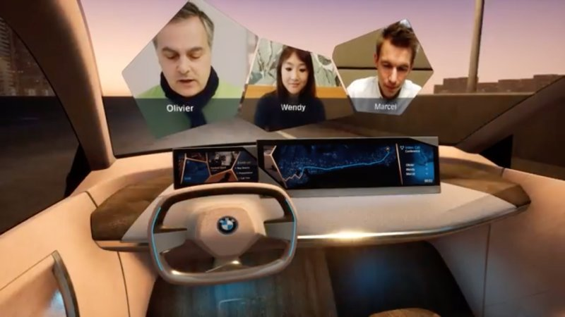 宝马iNext概念车新技能:在挡风玻璃上看球赛