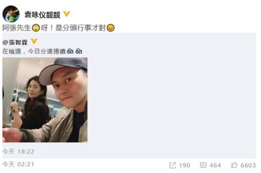 袁咏仪纠正张智霖用错成语 用错词被误会离婚了