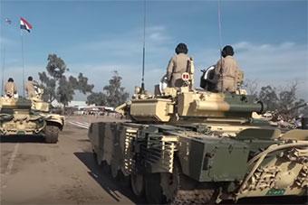 伊拉克庆祝建军98周年阅兵 美俄主战坦克全上阵
