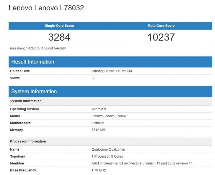 联想Z5 Pro GT搭载骁龙855处理器现身跑分平台