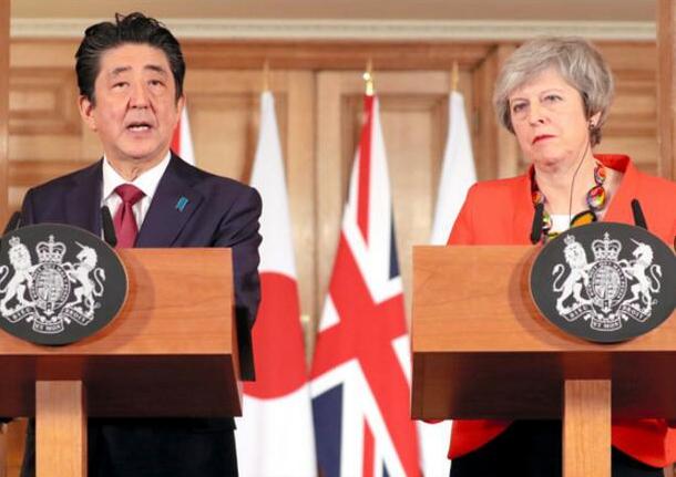 日英首脑会晤 同意在经济和安保领域加强合作