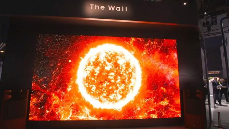 """CES 2019:三星带来219英寸电视""""The Wall"""""""