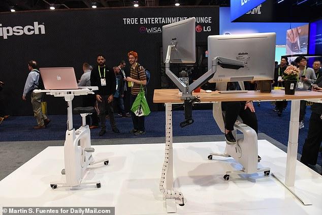 中国公司推出智能健身办公桌 工作骑车两不误