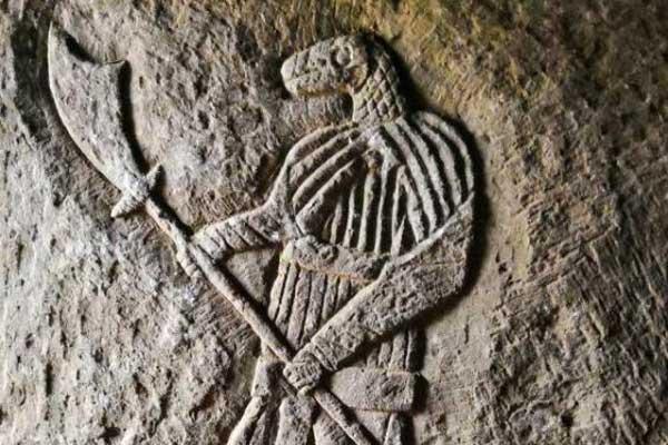 考古正安宋墓 贵州首次发现蛇首人身武士像