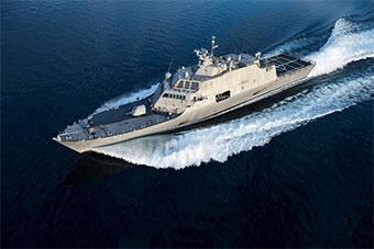 美国海军最新一艘濒海战斗舰服役