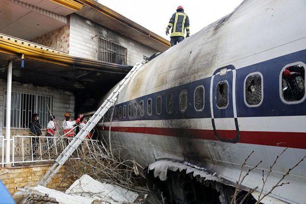 外媒:在德黑兰附近坠毁货机上载16人 仅1人生还
