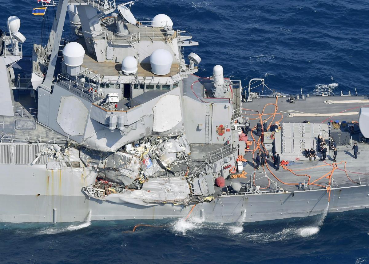 美撞船神盾舰被曝混乱管理:战斗中心随地扔尿瓶