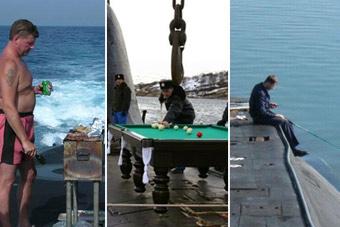 谁说潜艇兵生活乏味 打桌球烤肉钓鱼跳水样样有