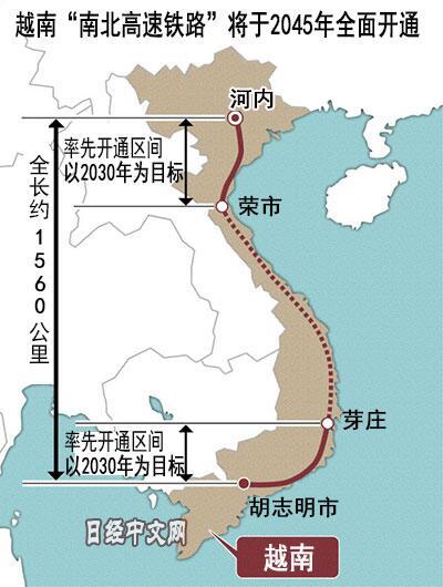 越南高铁计划再次浮出水面, 日本紧密关注