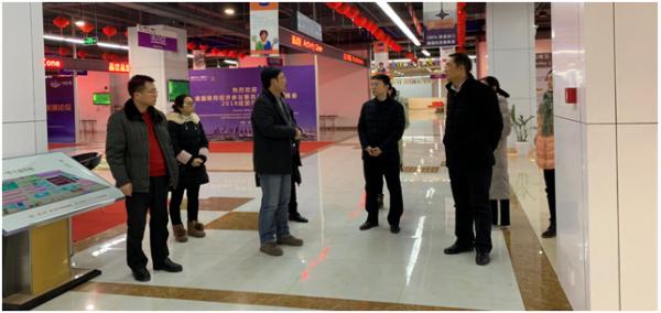 淮安市市委宣传部领导参观考察淮安德欧中心