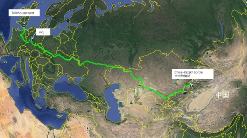 中国首条万兆低延时中欧陆缆正式开通