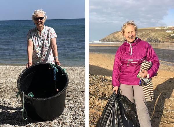 赞!英70岁老妇一年清理52个海滩垃圾场