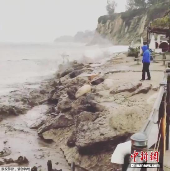 美加州将遭太平洋风暴侵袭 警方要求部分民众撤离