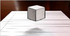 教你画一个立体悬浮方块