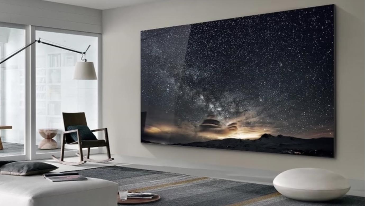 三星推出219英寸超大屏电视 占领你客厅整座墙面