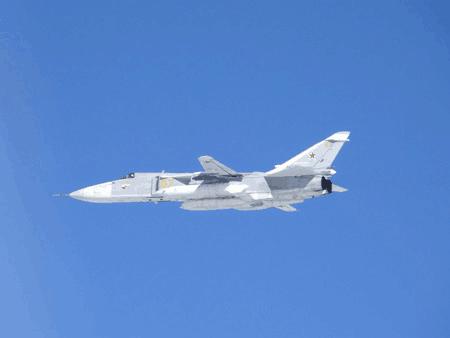 """日称俄2架""""苏-24""""战斗轰炸机再次南下日本海附近空域"""