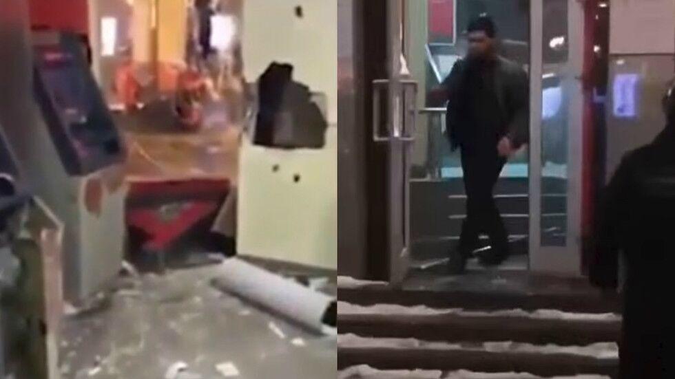 俄罗斯综合格斗运动员砸银行后被捕