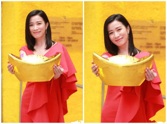 唐嫣与佘诗曼同穿西瓜红连衣裙,不同款式显出不同衣品