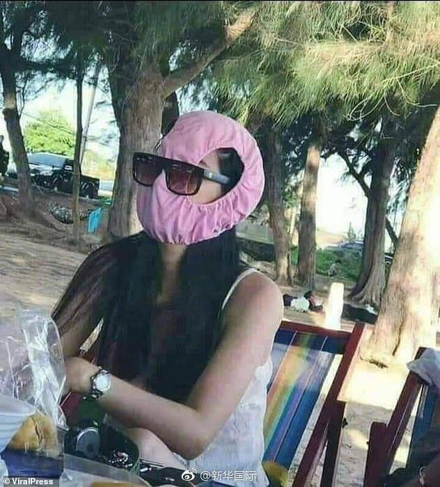泰国雾霾严重口罩被抢空 女子用内裤捂嘴(图)