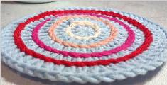 教你编织可爱的圆形杯垫