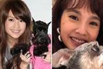 杨丞琳晒十年对比照 手抱狗狗笑容甜美依旧