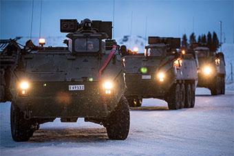 比利时陆军装甲车抵达爱沙尼亚加入英军战斗群