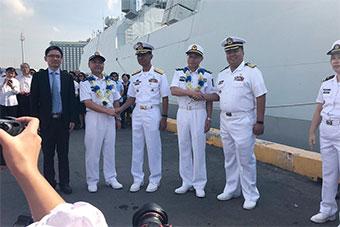 中国海军护航编队访问菲律宾 参观菲海军基地