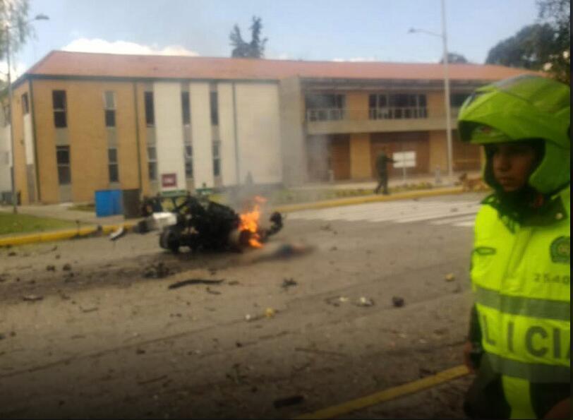 哥伦比亚首都突发汽车炸弹袭击 已致21死68伤