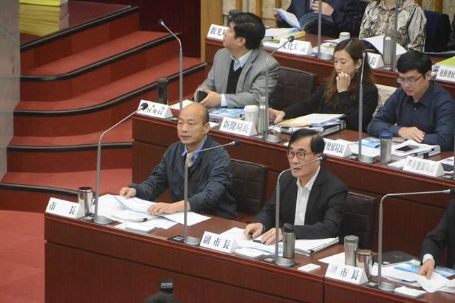 """台媒:韩国瑜议会首秀 强调自己是""""九二共识""""坚定支持者"""