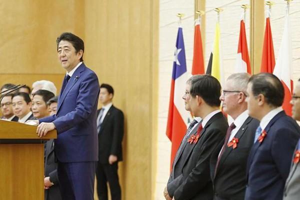 TPP部长级会议在东京举行 日本首相安倍出席