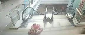 婴儿车自电梯滚落 他做出惊人举动
