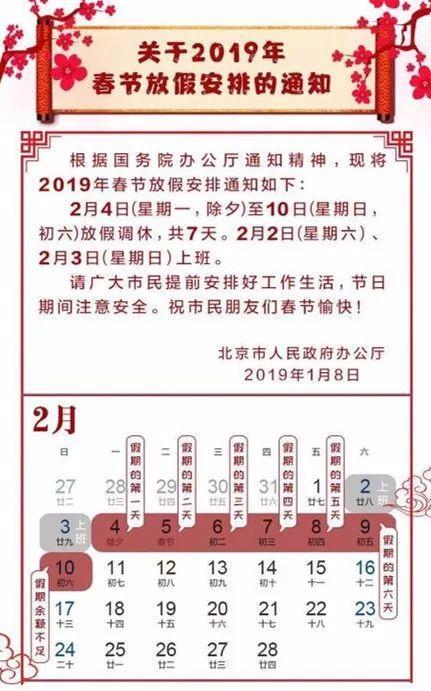 北京春节期间连续9天不限行