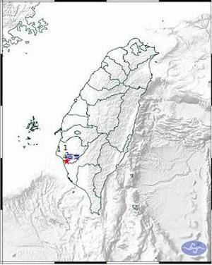 台南发生里氏4级地震 震中距市政府仅九公里