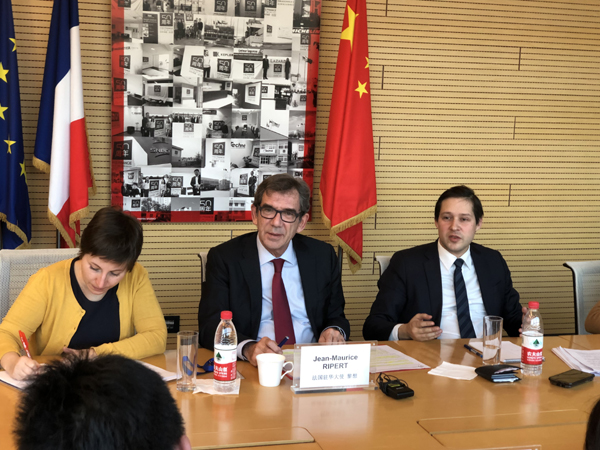 法国驻华大使:法中建交55周年合作前景向好
